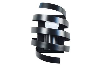 Barber Spirale Pole Applique En Métal Murale Noir rxdoeCBW