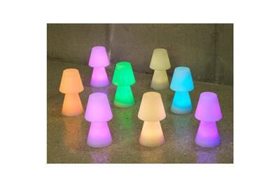Multicolore Sans Fil Polyéthylène Lampe Poser À 30cm Lola Extérieure En Led N8wOXZn0kP