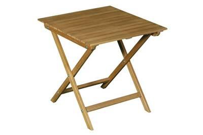 Table de jardin Delamaison Table basse de jardin en acacia couleur ...
