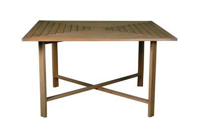 Table de jardin Delamaison Table carrée de jardin pliante en acacia ...