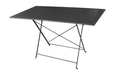 Table de jardin Delamaison Table rectangulaire pliante en acier ...