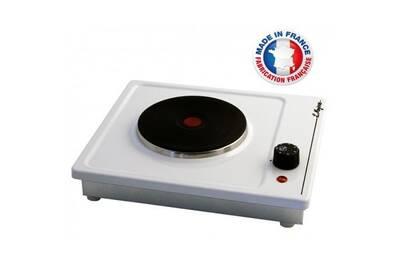 design de qualité 7dbcf cd903 Table cuisson 1 feu 1500w blanche immo