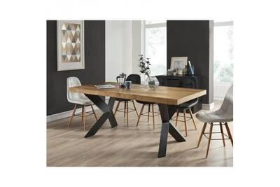 personnes 8 a x 6 de style Platon l manger table bois noir placage chenepieds industriel l 180 a métal laqué 7Y6Ibfvmgy