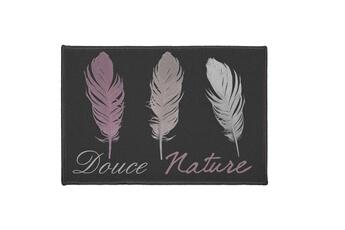 tapis de salon tapis dco rectangle doucea 40x60cm noir paris prix - Tapis Paris