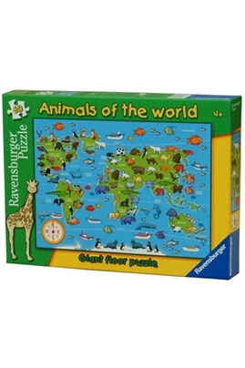 Animals of the world giant floor jigsaw puzzle