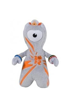Peluches Golden Bear London 2012 olympic mascot 20cm wenlock soft toy