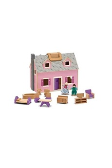 Poupées MELISSA & DOUG Fold and go mini dollhouse