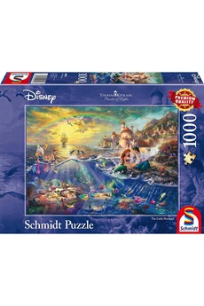 Puzzles Schmidt Thomas kinkade disney the little mermaid 1000 piece jigsaw puzzle