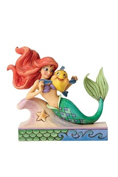 Figurines personnages Enesco Fun and friends (ariel with flounder) disney traditions figurine