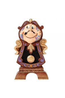 Figurines personnages Disney Traditions Disney traditions keeping watch cogsworth beauty and the beast figurine