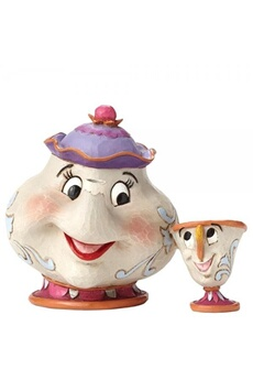 Figurines personnages Disney Traditions Disney traditions a mother's love mrs potts and chip (beaty and the beast) figurine