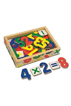Jeux d'imitation MELISSA & DOUG Melissa & doug 37 magnetic wooden numbers (10449)