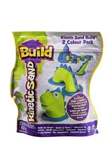 Jeux d'imitation Spin Master Kinetic sand build 2 colour pack (blue/green)