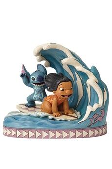 Figurines personnages Disney Traditions Catch the wave (lilo and stitch 15th anniversary piece) disney traditions figurine