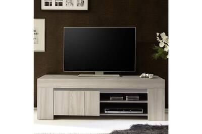 Meuble Tv Nouvomeuble Petit Meuble Tv Moderne Couleur Bois Gris