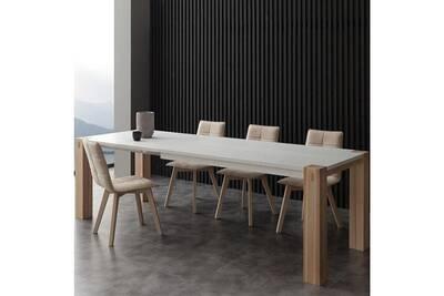 Extensible Table Blanc Helia Manger À Bois Et sdthQrCx