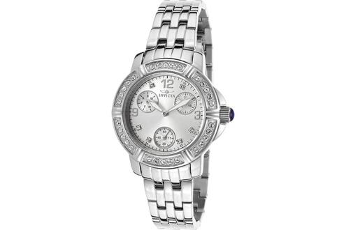 Montre femme invicta pro diver 16761syb bracelet argenté en acier inoxydabl