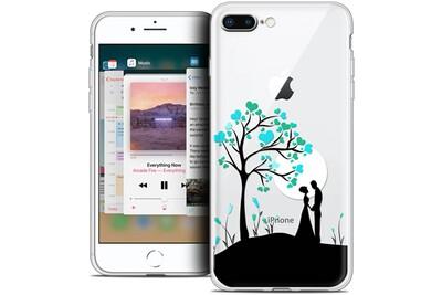 Coque crystal gel apple iphone 8 plus (5.5 ) extra fine love - sous l'arbre