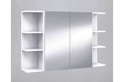 set de element haut de salle de bain avec miroirs etageres d angle 20 cm pegane