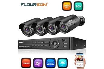 Caméra espion Floureon 1 x 8ch 1080p 1080n ahd dvr + 4 x kit de sécurité 22261bafd2d3