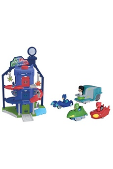 Circuits de voitures Majorette Pj masks garage quartier general + 4 vehicules - 203145002