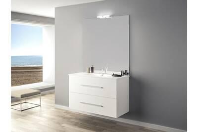Ensemble meuble ancoflash 2 tiroirs 100cm - anconetti - blanc