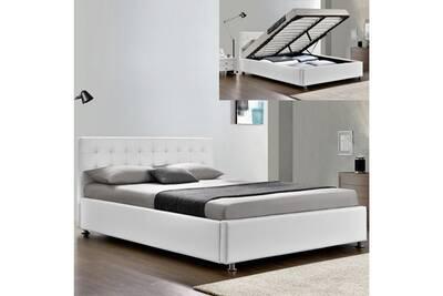 Lit De 2 Places Meubler Design Lit Complet Sommier Relevable Tête