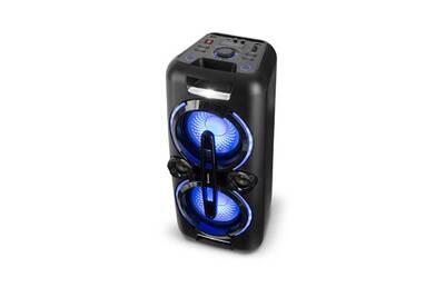 enceintes actives auna bazzter sono portable 2 woofers 8 enceinte active 2 x 50w radio. Black Bedroom Furniture Sets. Home Design Ideas