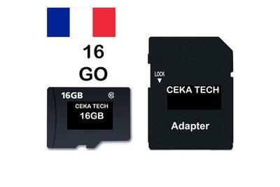 Carte mémoire tecno w5 , ceka tech® micro-sd 16go classe 10 avec adaptateur  sd