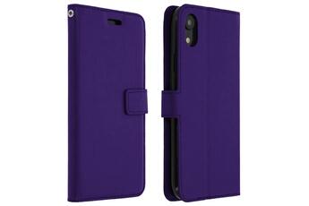 Coque iPhone Housse apple iphone xr étui folio portefeuille fonction  support - violet Avizar b0fc4db564b5f