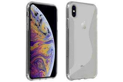 coque iphone xs metal brossé
