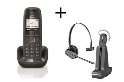 Téléphone Sans Fil Gigaset Gigaset As470 Noir Casque C565 Gap Darty