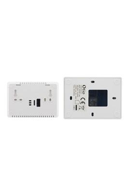 Thermostat et programmateur de chauffage Thermostat programmable sans fil blanc - otio Otio
