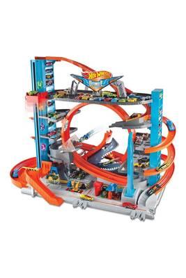 circuits de voitures hot wheels garage petites voitures mega garage ftb69 darty