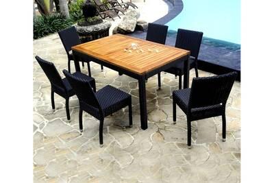 Ensemble table et chaise de jardin Wood-en-stock Salon de jardin ...