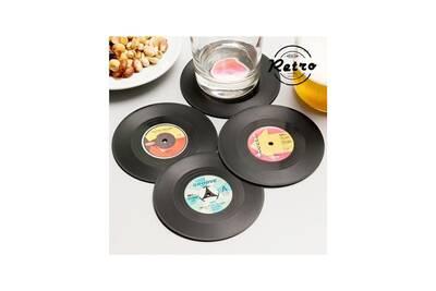 promo code 97e30 56627 Dessous de verre rétro disques vinyles (lot de 4)