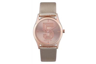 Montre femme Manoush Montre femme manoush à quartz cadran rose gold 36mm et  bracelet rose gold en tissu ms1813 c83f3ed971d