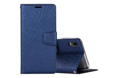 coque iphone xr cuir bleu