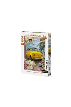 Puzzles Nathan Puzzles Sur la route des vacances / fiat 500