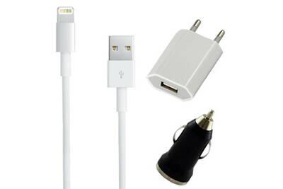 Chargeur secteur mural+Cable USB pour iPhone 5 6 7 8 X XS XR