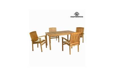 Craftenwood Teck150 X CmBy Chaises 75 De Table4 90 Ensemble Bois CdxoWrQBe