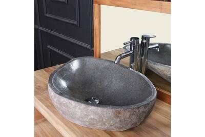 Vasque de salle de bain Bois Dessus Bois Dessous Vasque en pierre de ...