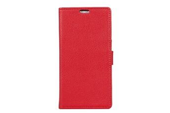 Coque smartphone Etui en pu de couleur rouge pour votre oneplus 6t  Magunivers 5a1273d79b1