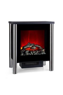 Cheminée électrique KLARSTEIN Copenhagen cheminée électrique décorative - chauffage 950w / 1900w - thermostat - noir