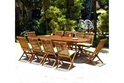 Table de jardin Wood-en-stock Ensemble 10 places salon de jardin en ...