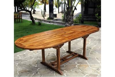 Table de jardin Wood-en-stock Table de jardin en teck pour 10 ...