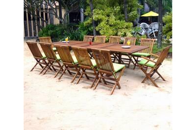 Ensemble table et chaise de jardin Wood-en-stock Ensemble 12 places ...