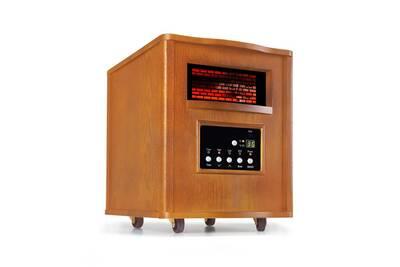 Radiateur Electrique Klarstein Heatbox Radiateur Electrique Infrarouge Mobile Chauffage D Appoint 1500w Minuterie 12 H Chene Darty