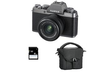 8ee361749f Appareil photo hybride X-t100 dark silver + objectif xc15-45 pz + sac