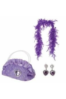 Accessoires de déguisement Be Toy's Accessoires princesse - sac, boa et boucles d'oreilles - violet
